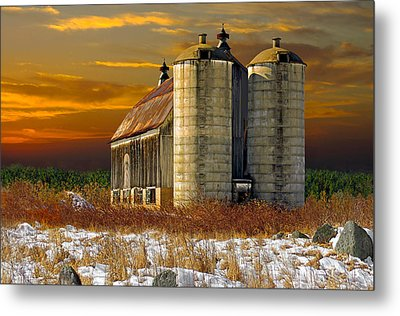 Metal Print featuring the photograph Winter On The Farm by Judy  Johnson
