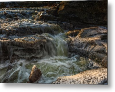Winter On The Rocky River 1 Metal Print by Michael Demagall