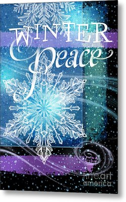 Winter Peace Greeting Metal Print