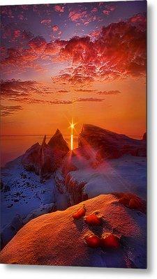 Winter Peaks Metal Print