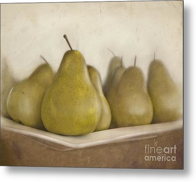 Winter Pears Metal Print