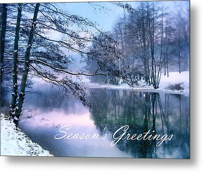 Winter Pond Metal Print by Jessica Jenney