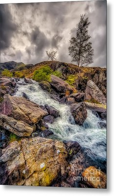 Winter Rapids Metal Print by Adrian Evans