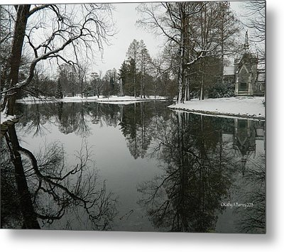 Metal Print featuring the photograph Winter Reflections 2 by Kathy Barney