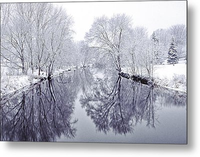 Winter Reflections Metal Print by Andrew Soundarajan