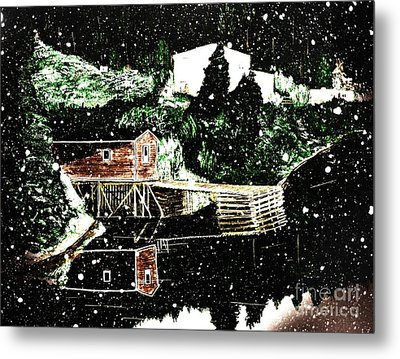 Winter Reflections Metal Print by Barbara Griffin