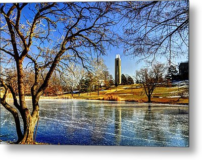 Winter Reflections Metal Print by Jean Hutchison