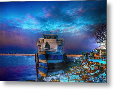 Welcome Sun Breaking The Cold Metal Print by Dennis Baswell