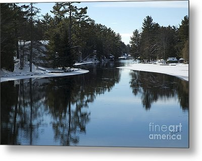 Winter River II Metal Print by Jessie Parker
