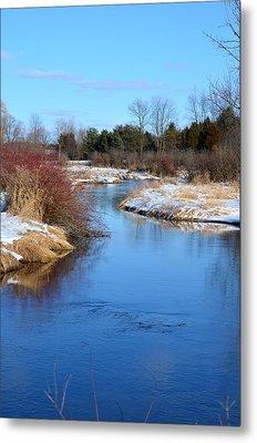 Winter River2 Metal Print by Jennifer  King