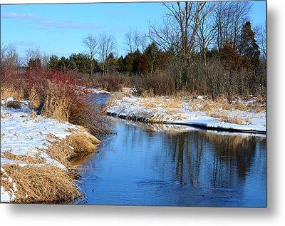 Winter River3 Metal Print by Jennifer  King