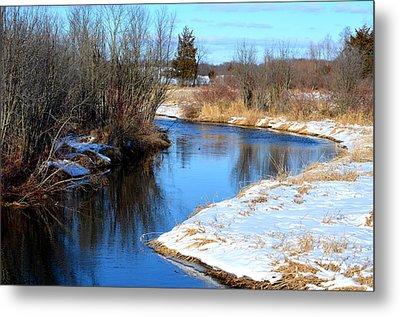 Winter River5 Metal Print by Jennifer  King