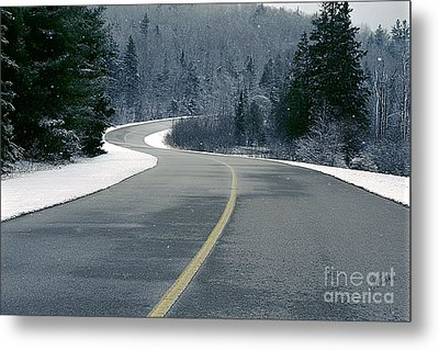 Winter Road Metal Print by Jessie Parker