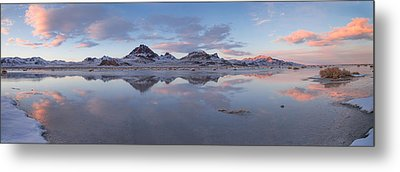 Winter Salt Flats Metal Print