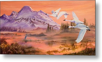 Winter Sanctuary Metal Print by Sherry Shipley