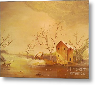 Winter Scene  Metal Print by Anthony Morretta