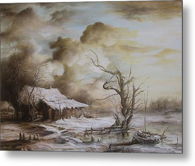Winter Scene Metal Print by Dan Scurtu