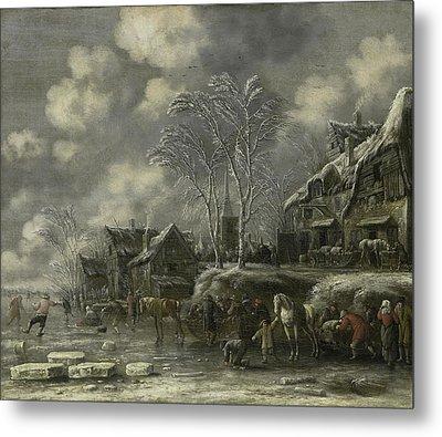 Winter Scene, Thomas Heeremans Metal Print by Litz Collection