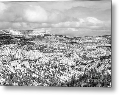 Winter Scenery In Bryce Canyon Utah Metal Print by Julia Hiebaum