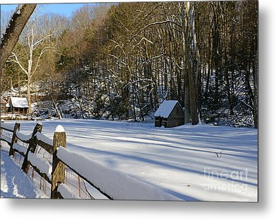 Winter Shack Metal Print by Paul Ward
