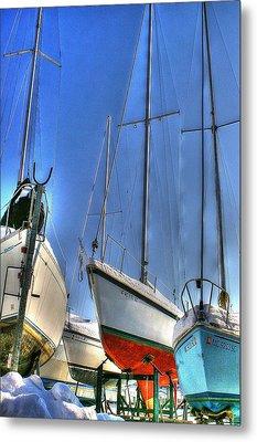 Winter Shipyard Metal Print by Randy Pollard