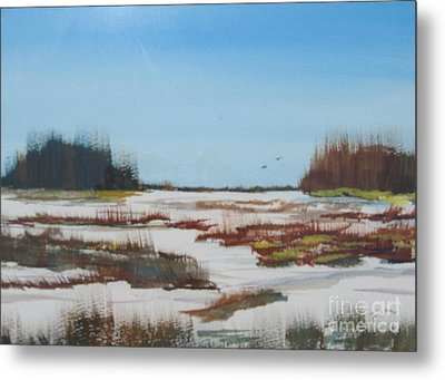 Metal Print featuring the painting Winter Silence by Jack G  Brauer