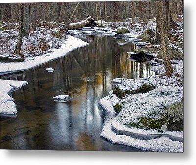 Winter Snake Meadow Brook Metal Print
