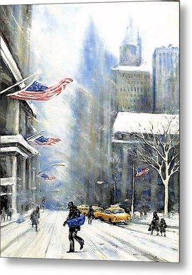 Winter Snow Nyc Metal Print