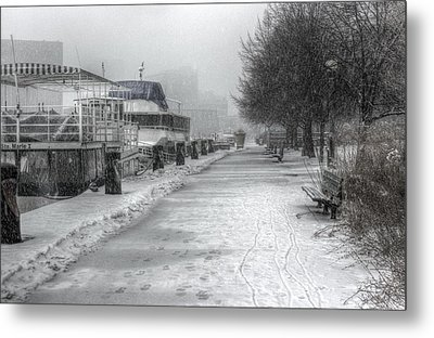 Winter Snow Storm II Metal Print by Nicky Jameson