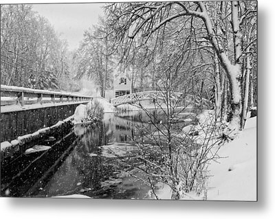 Winter Snow Storm In Somesville Maine Metal Print by Keith Webber Jr