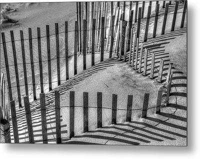 Winter Snowfence 2 Metal Print