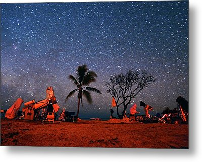 Winter Star Party Under Stars Metal Print by Tony & Daphne Hallas