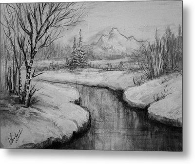 Winter Stillness Metal Print by C Steele