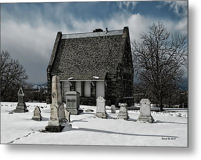 Metal Print featuring the photograph Winter Stone House by Stephen  Johnson