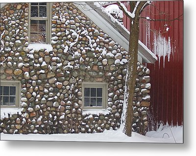 Metal Print featuring the photograph Winter Stone Pattern by Randy Pollard