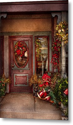Winter - Store - Metuchen Nj - Dressed For The Holidays Metal Print by Mike Savad