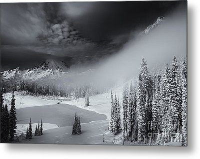 Winter Storm Clears Metal Print by Mike  Dawson