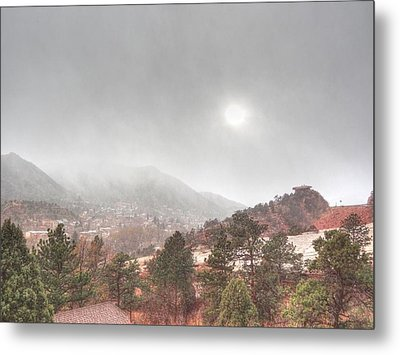 Winter Storm In Summer With Sun Metal Print by Lanita Williams