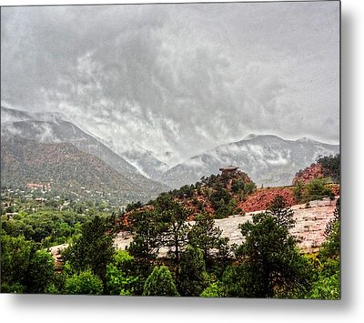 Winter Storm On A Summer Day Metal Print by Lanita Williams