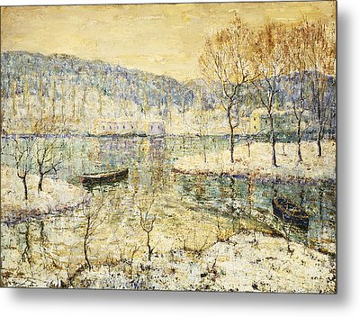Winter Stream Metal Print by Ernest Lawson