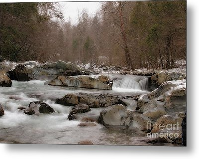 Metal Print featuring the photograph Winter Stream by Geraldine DeBoer