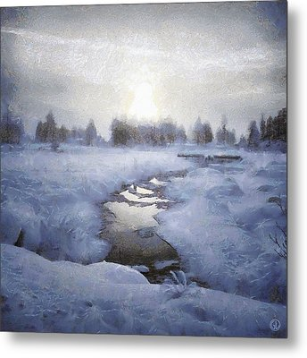 Winter Stream Metal Print by Gun Legler