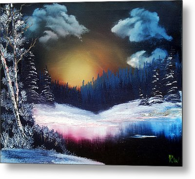 Winter Sun Rise Metal Print by Ryan Wells