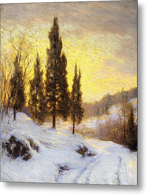 Winter Sundown Metal Print by Walter Launt Palmer