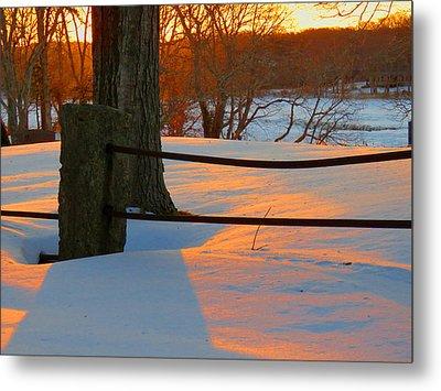 Winter Sunrise Glow Metal Print by Dianne Cowen