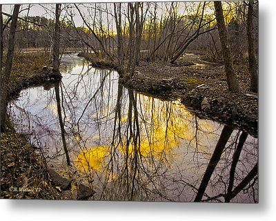 Metal Print featuring the photograph Winter Sunset At Williston Mill by Brian Wallace
