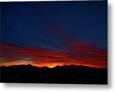 Winter Sunset Metal Print by Jeremy Rhoades