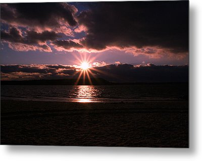 Metal Print featuring the photograph Winter Sunset by Karen Silvestri