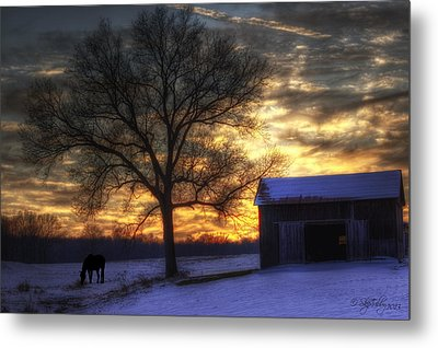 Metal Print featuring the photograph Winter Sunset by Skip Tribby