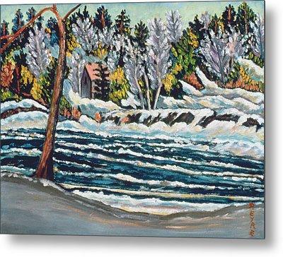Winter Thaw Gatineau River Metal Print by Patricia Eyre
